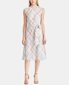 Lauren Ralph Lauren Belted Georgette Dress
