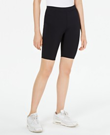 Bar III Pull-On Bike Shorts, Created for Macy's