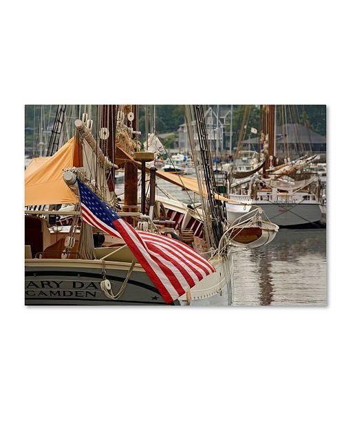 "Trademark Global Mike Jones Photo 'Camden Boat' Canvas Art - 19"" x 12"" x 2"""