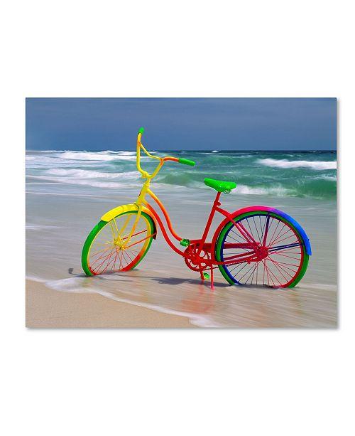 "Trademark Global Mike Jones Photo 'Rainbow Bike' Canvas Art - 19"" x 14"" x 2"""
