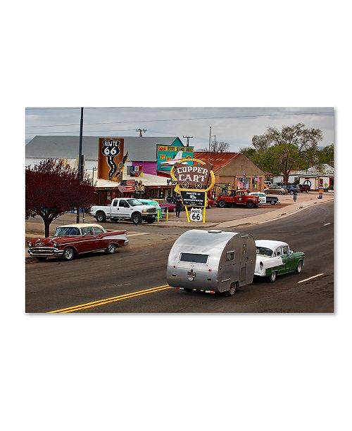 "Trademark Global Mike Jones Photo 'Rt 66 Fun Run Motoporium' Canvas Art - 47"" x 30"" x 2"""