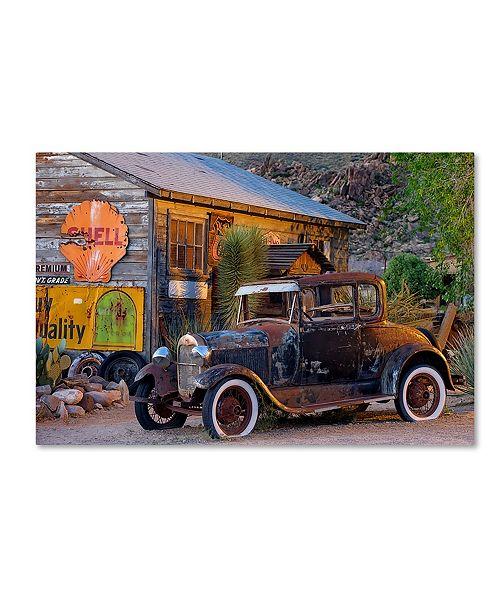 "Trademark Global Mike Jones Photo 'Rt 66 near Peach Springs' Canvas Art - 47"" x 30"" x 2"""