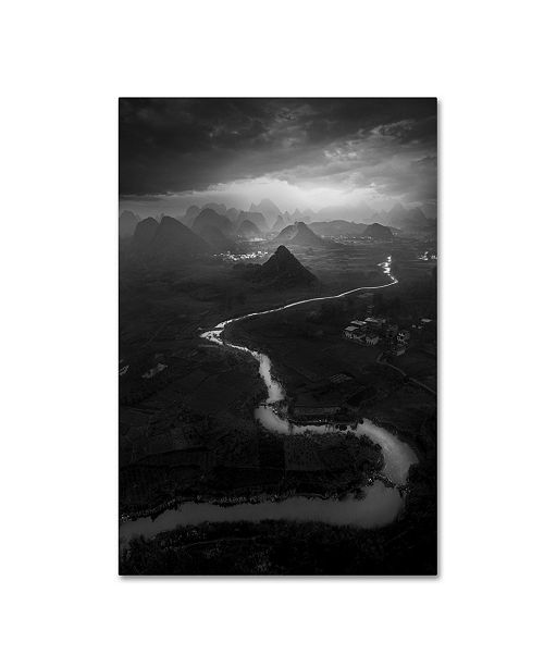 "Trademark Global Moises Levy 'Dark Skies Over Guilin 2' Canvas Art - 19"" x 12"" x 2"""