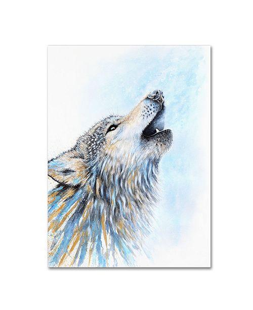 "Trademark Global Michelle Faber 'Howling Wolf' Canvas Art - 19"" x 14"" x 2"""