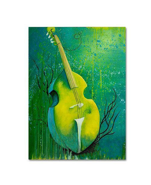 "Trademark Global Michelle Faber 'Sunken Dreams Cello' Canvas Art - 32"" x 24"" x 2"""