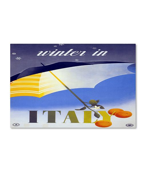 """Trademark Global Vintage Apple Collection 'Italy Winter' Canvas Art - 24"""" x 16"""" x 2"""""""