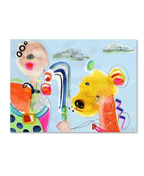 "Trademark Global Wyanne 'Walking The Beast' Canvas Art - 19"" x 14"" x 2"""