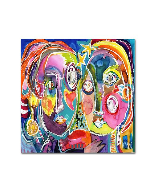 """Trademark Global Wyanne 'Meant To Be' Canvas Art - 14"""" x 14"""" x 2"""""""