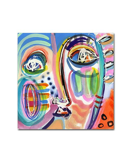 "Trademark Global Wyanne 'Sometimes Picks Nose While Driving' Canvas Art - 35"" x 35"" x 2"""