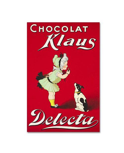 "Trademark Global Vintage Apple Collection 'Chocolat Klaus Delecta' Canvas Art - 24"" x 16"" x 2"""