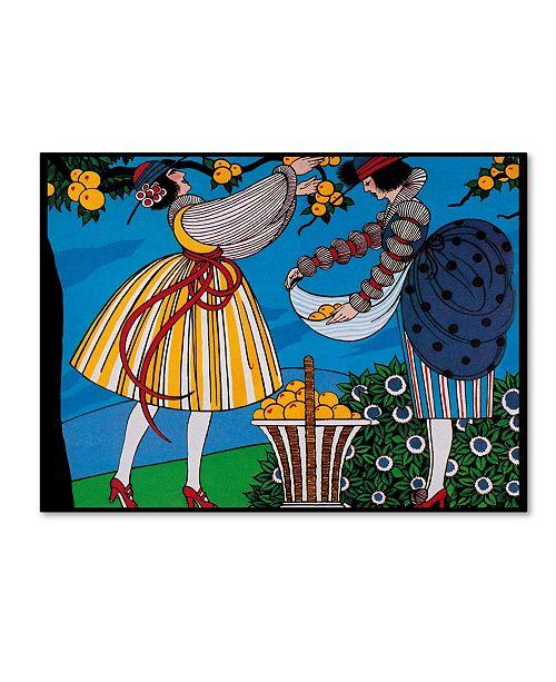 "Trademark Global Vintage Lavoie ' Ad 8' Canvas Art - 24"" x 18"" x 2"""