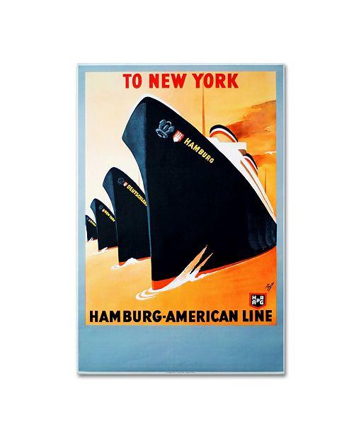 "Trademark Global Vintage Lavoie 'Travel 45' Canvas Art - 19"" x 12"" x 2"""