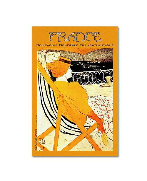 "Trademark Global Vintage Lavoie 'Travel 317' Canvas Art - 47"" x 30"" x 2"""