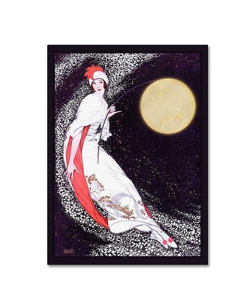 "Trademark Global Vintage Lavoie 'Moon Fairy Canvas 2A' Canvas Art - 47"" x 35"" x 2"""