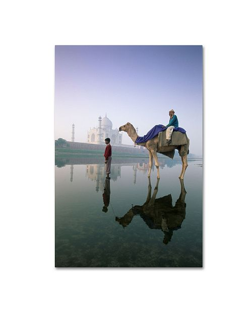 "Trademark Global Robert Harding Picture Library 'Camels 2' Canvas Art - 19"" x 12"" x 2"""