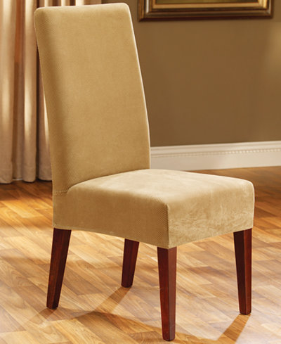Sure Fit Stretch Pique Short Dining Room Chair Slipcover ...
