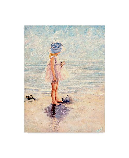 "Trademark Global Sher Sester 'Discoveries At The Beach' Canvas Art - 47"" x 35"" x 2"""