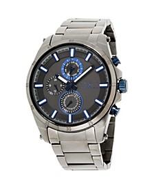 Men's Analog Gun Metal Stainless Steel Watch