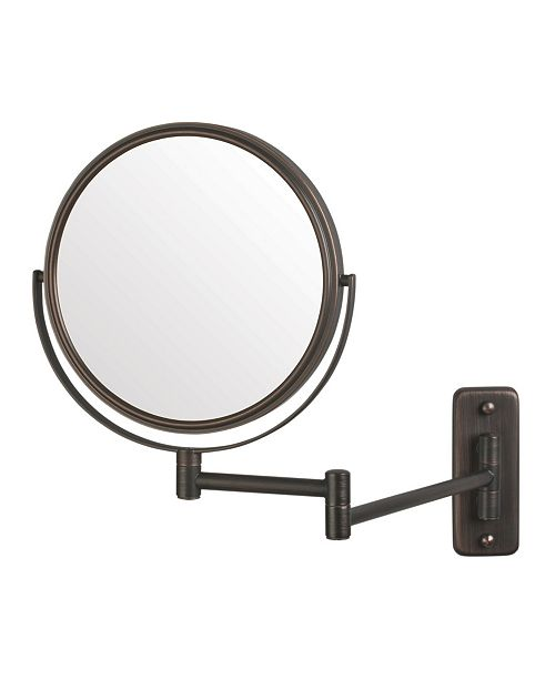 """Jerdon The JP7506BZ 8"""" Two-Sided Wall Mount Mirror"""