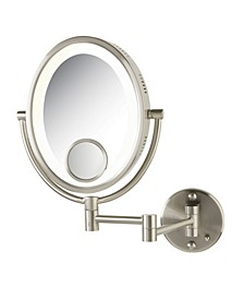 "The HL9515N 8"" x 10"" Oval Lighted Wall Mount Makeup Mirror"