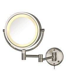 "The Jerdon HL75N 8.5"" Wall Mount Lighted Makeup Mirror"