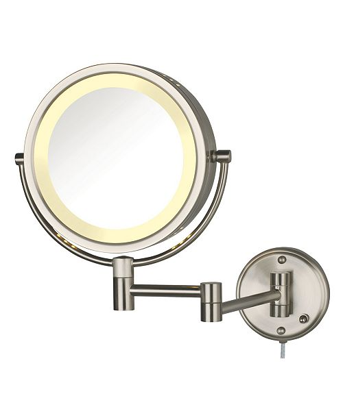 "Jerdon The HL75N 8.5"" Wall Mount Lighted Makeup Mirror"