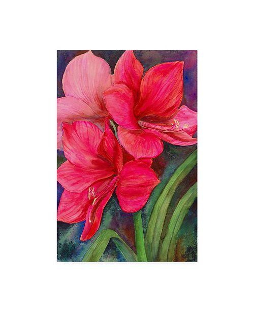 "Trademark Global Joanne Porter 'Bettys Amaryllis' Canvas Art - 24"" x 16"" x 2"""
