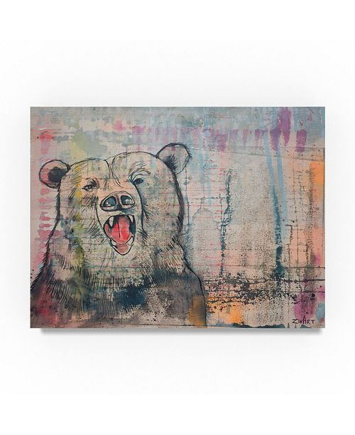 "Trademark Global Zwart 'Big Bear Head' Canvas Art - 32"" x 24"" x 2"""