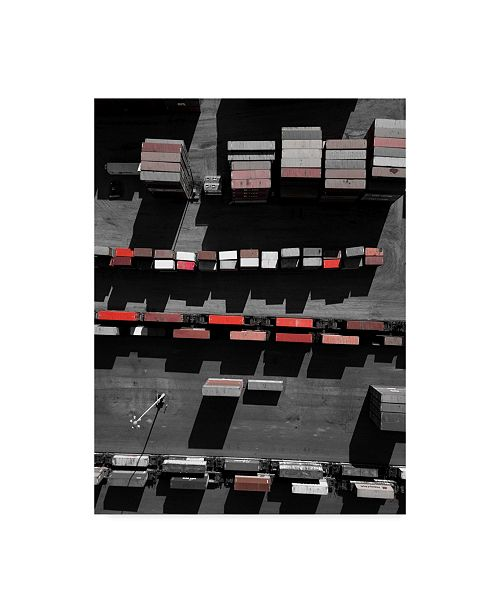 """Trademark Global Moises Levy 'Red Boxes' Canvas Art - 19"""" x 14"""" x 2"""""""