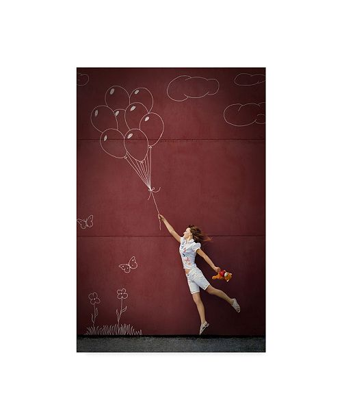"Trademark Global Mikhail Ioshko 'Catching The Wind' Canvas Art - 22"" x 2"" x 32"""