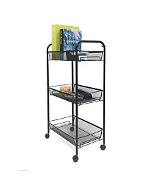 Mind Reader Rolling Metal Mesh 3 Shelf Cart