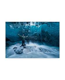 "Jonathan Tucker 'Under A Glacier' Canvas Art - 47"" x 2"" x 30"""