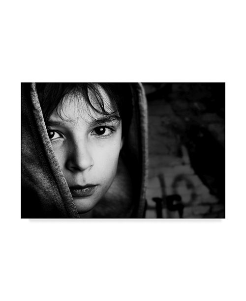 "Trademark Global Mirjam Delrue 'Street Boy' Canvas Art - 47"" x 2"" x 30"""