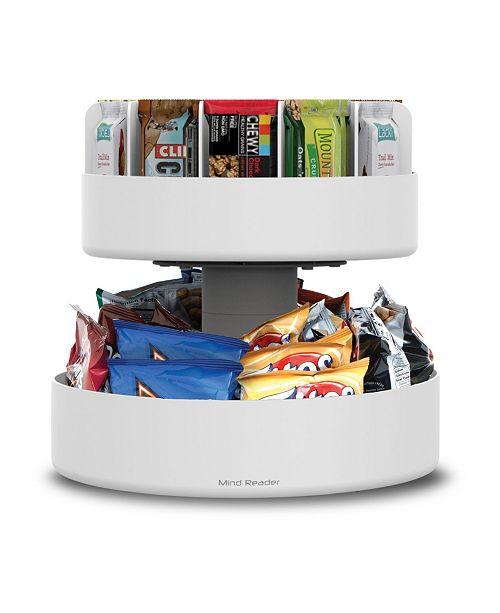 Mind Reader 2 Tier Lazy Susan Granola Bar and Snack Organizer,Home, Office, Breakroom