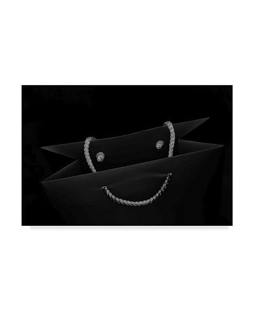 "Trademark Global Wendy 'Smile Black Bag' Canvas Art - 47"" x 2"" x 30"""