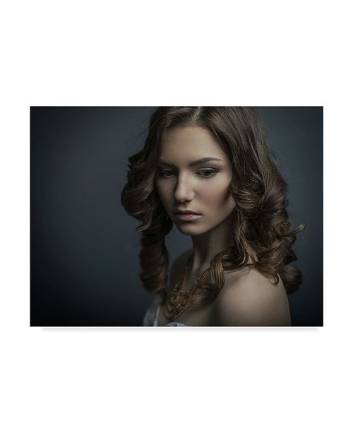 "Trademark Global Yuri Shevchenko 'Curly Hair' Canvas Art - 19"" x 2"" x 14"""