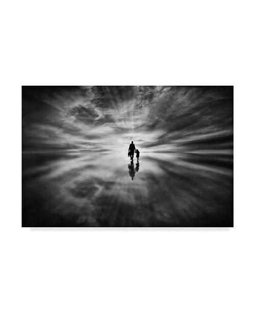 "Trademark Global Osher Partovi 'Silhouette Clouds' Canvas Art - 32"" x 2"" x 22"""