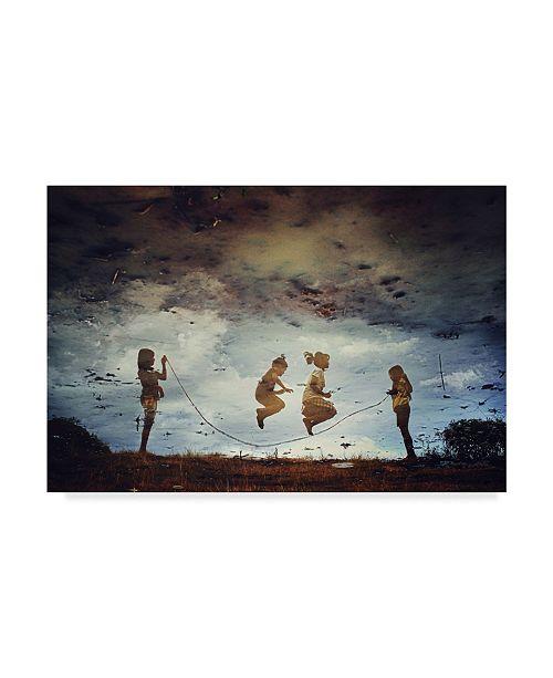 "Trademark Global Jay Satriani 'The Games High Jump' Canvas Art - 32"" x 2"" x 22"""