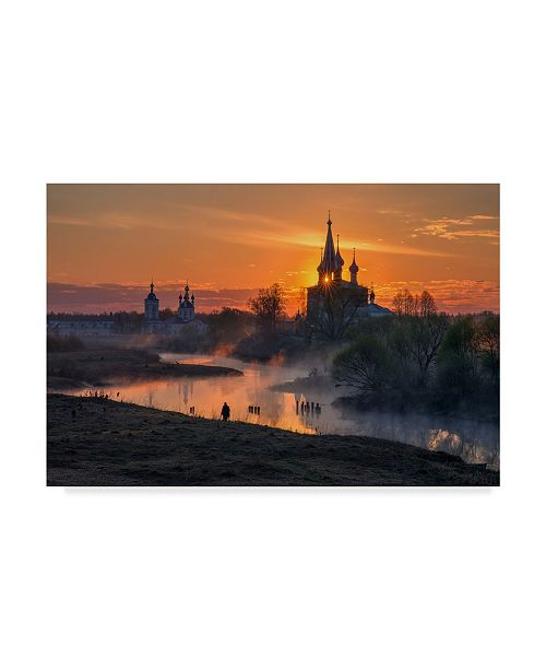 "Trademark Global Sergey Davydov 'Dawn In Dunilovo' Canvas Art - 19"" x 2"" x 12"""