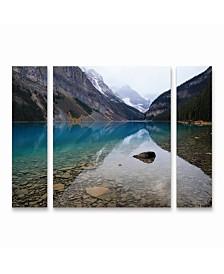 """Pierre Leclerc 'Lake Louise' Multi Panel Art Set Small 3 Piece - 44"""" x 34"""" x 2"""""""