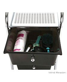 Mind Reader All Purpose Storage Drawer Rolling Utility Cart, 3 Drawer Organizers