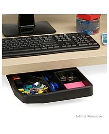 Under Desk Sliding Compartment Organizer