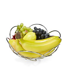 Mind Reader Modern Stainless Steel Fruit and Vegetable Basket Bowl