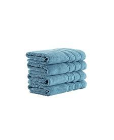 Classic Turkish Towels Antalya 4 Piece Luxury Turkish Cotton Hand Towel Set