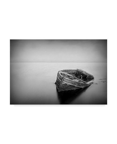 """Trademark Global Wildphotoart 'Abandoned Boat' Canvas Art - 47"""" x 2"""" x 30"""""""