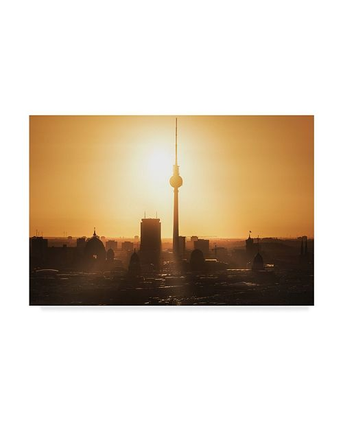 "Trademark Global Jean Claude Castor 'Berlin Skyline Sunrise' Canvas Art - 32"" x 2"" x 22"""