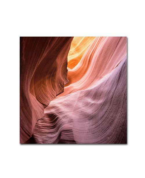 "Trademark Global Moises Levy 'The Lower Wave III' Canvas Art - 24"" x 24"" x 2"""