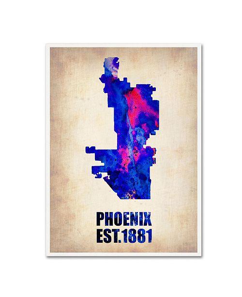 "Trademark Global Naxart 'Phoenix Watercolor Map' Canvas Art - 19"" x 14"" x 2"""