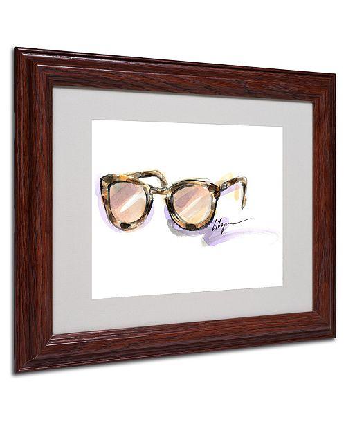 "Trademark Global Jennifer Lilya 'Always Sunny' Matted Framed Art - 11"" x 14"" x 0.5"""