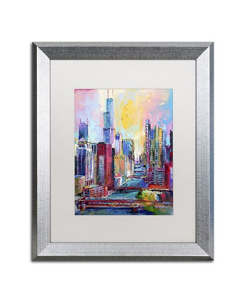 "Trademark Global Richard Wallich 'Chicago 3' Matted Framed Art - 20"" x 16"" x 0.5"""